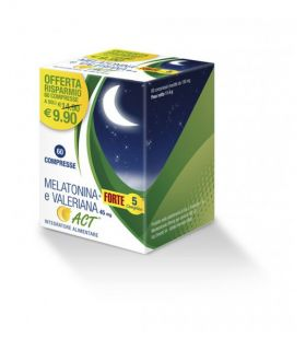 Melatonina Act Forte + Valeriana 60 Compresse