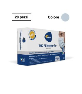 Thd Mascherina Chirurgica F3 Bluebarrier Multi Regular 20 pezzi